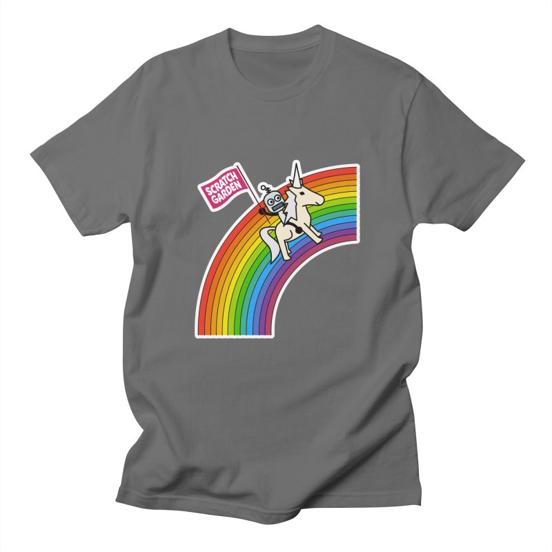 Rainbow Robot Unicorn! Men's T-Shirt by Scratch Garden!