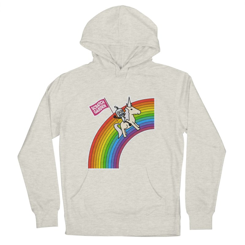 Rainbow Robot Unicorn! Men's French Terry Pullover Hoody by Scratch Garden!