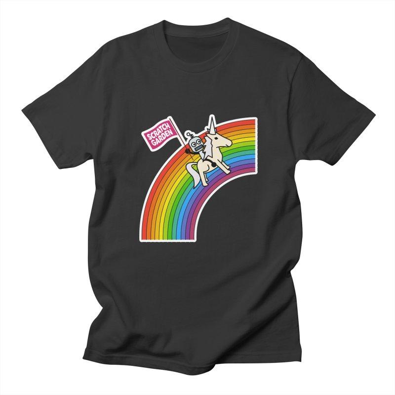 Rainbow Robot Unicorn! Men's Regular T-Shirt by Scratch Garden!