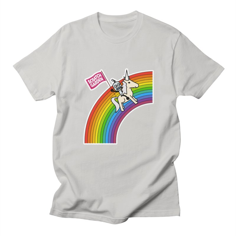Rainbow Robot Unicorn! Men's Regular T-Shirt by Scratch Garden!