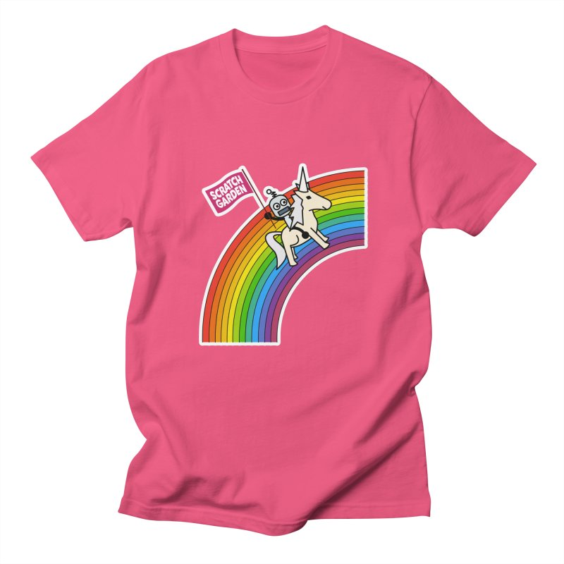 Rainbow Robot Unicorn! Women's T-Shirt by Scratch Garden!