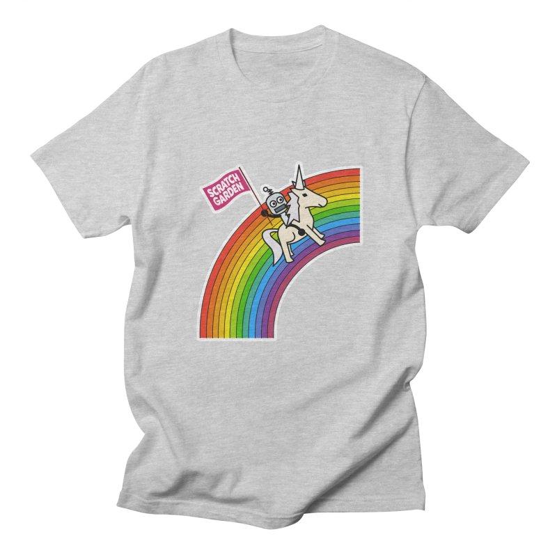Rainbow Robot Unicorn! Women's Regular Unisex T-Shirt by Scratch Garden!