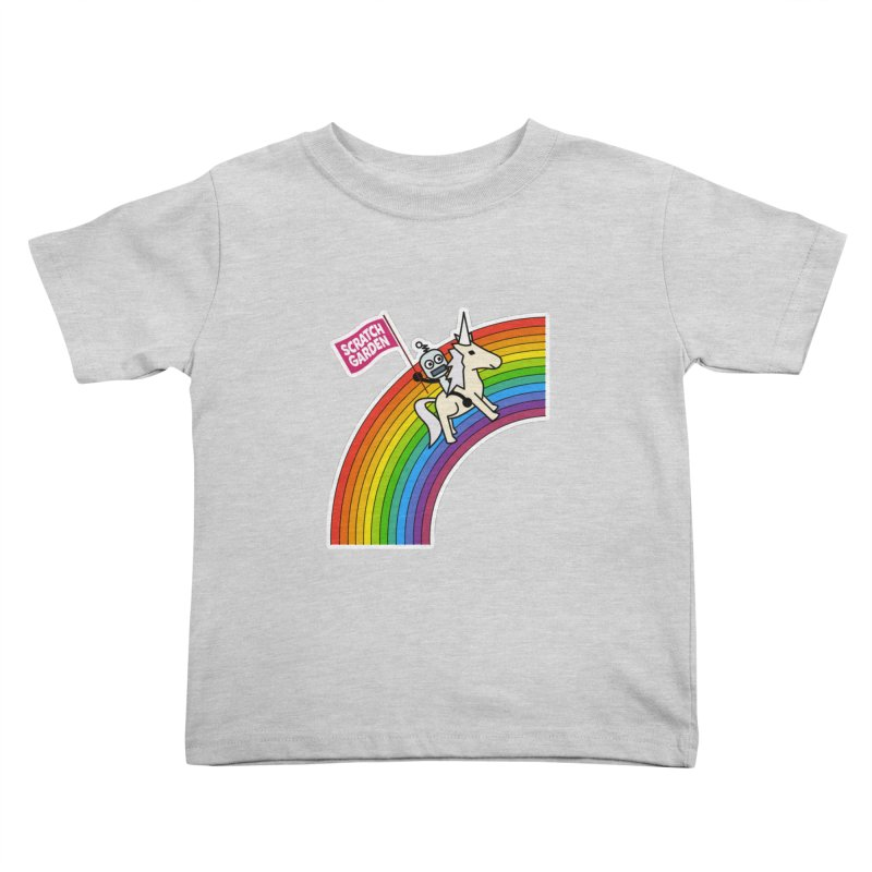 Rainbow Robot Unicorn! Kids Toddler T-Shirt by Scratch Garden!