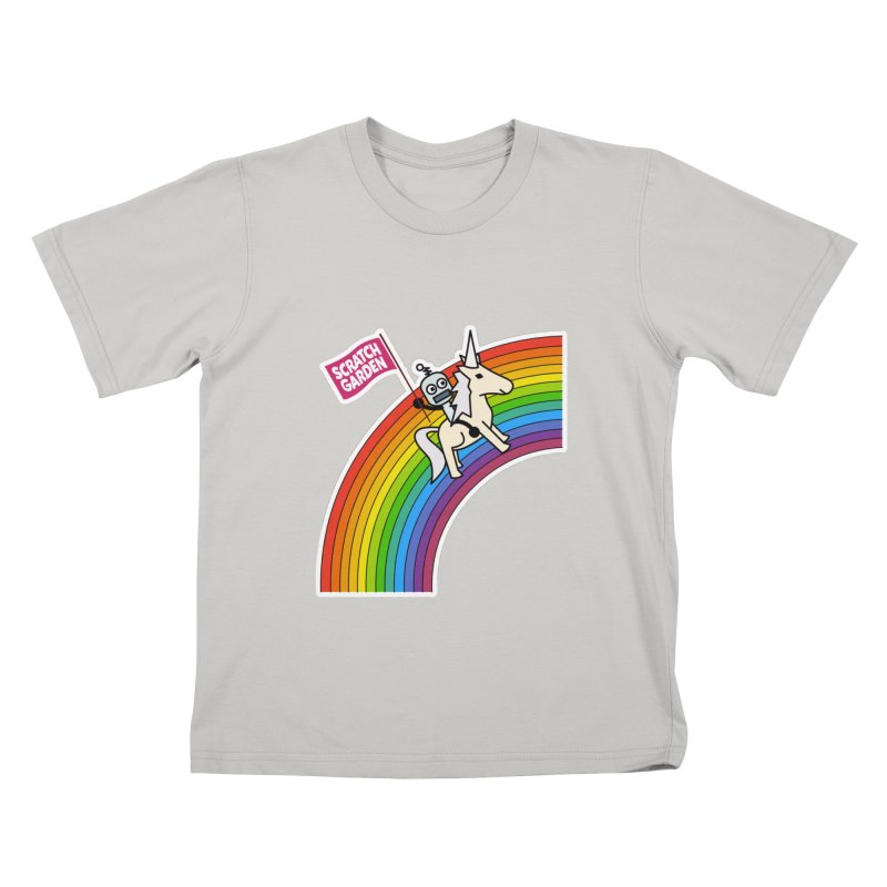 Rainbow Robot Unicorn! Kids T-Shirt by Scratch Garden!