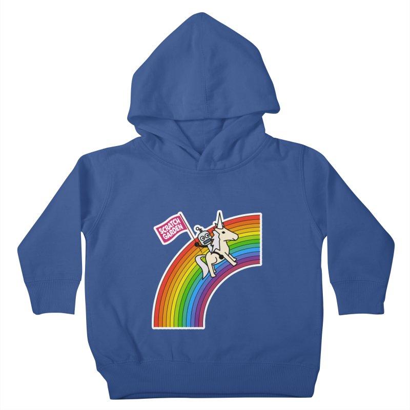 Rainbow Robot Unicorn! Kids Toddler Pullover Hoody by Scratch Garden!