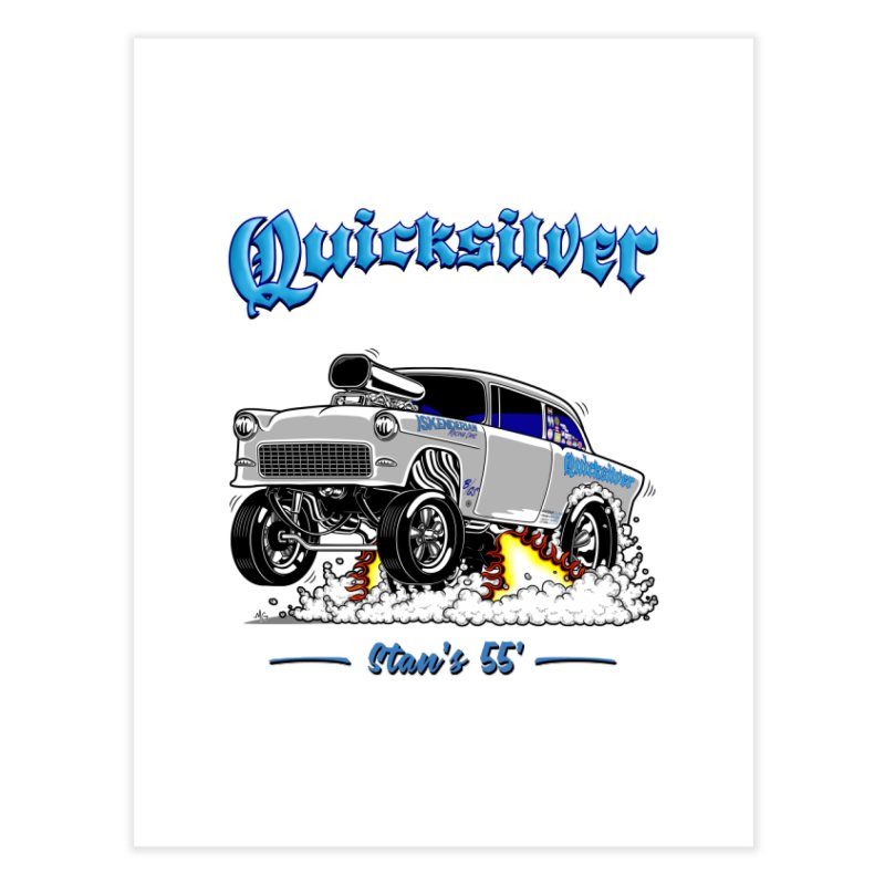 55 Gasser for Stan Home Bath Mat by screamnjimmy's Artist Shop