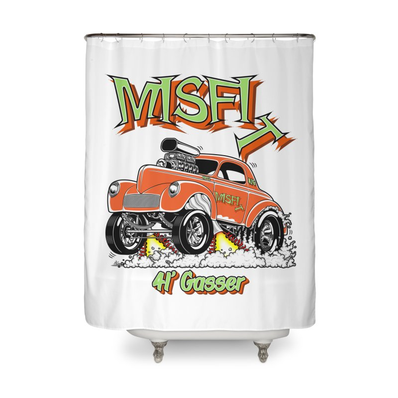41 Gasser for Hal Home Shower Curtain by screamnjimmy's Artist Shop