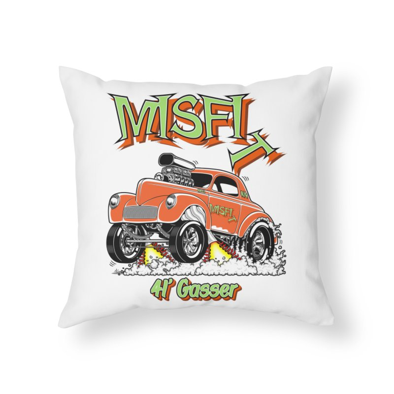41 Gasser for Hal Home Throw Pillow by screamnjimmy's Artist Shop