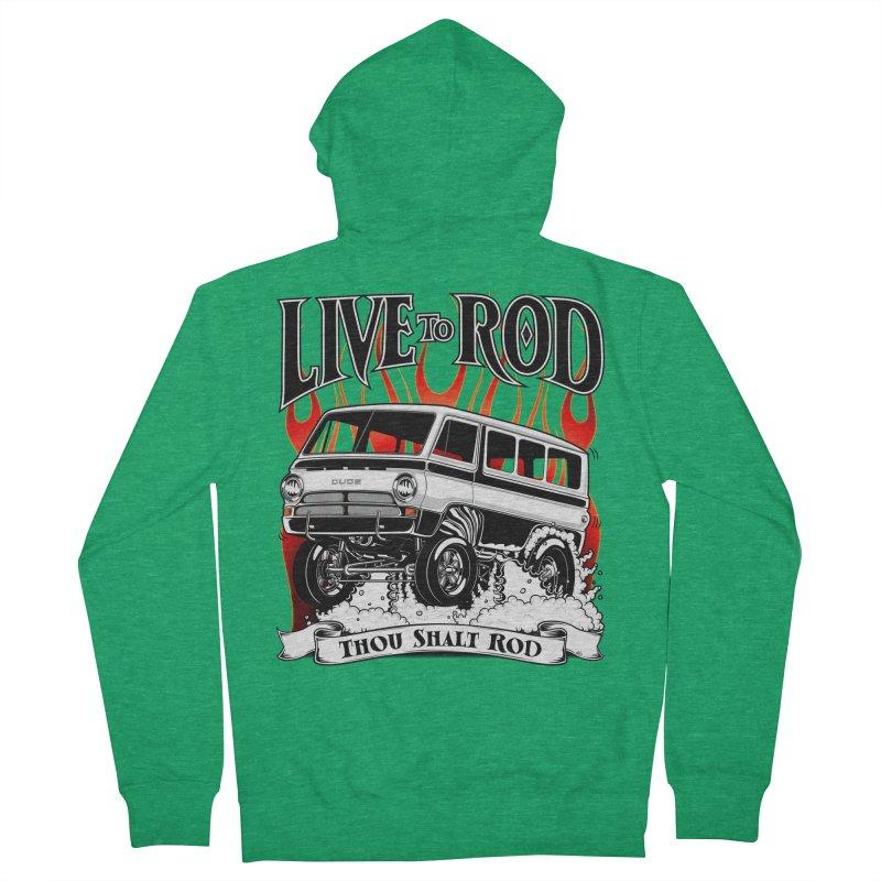 69 Dodge Gasser van, clean black Men's Zip-Up Hoody by screamnjimmy's Artist Shop