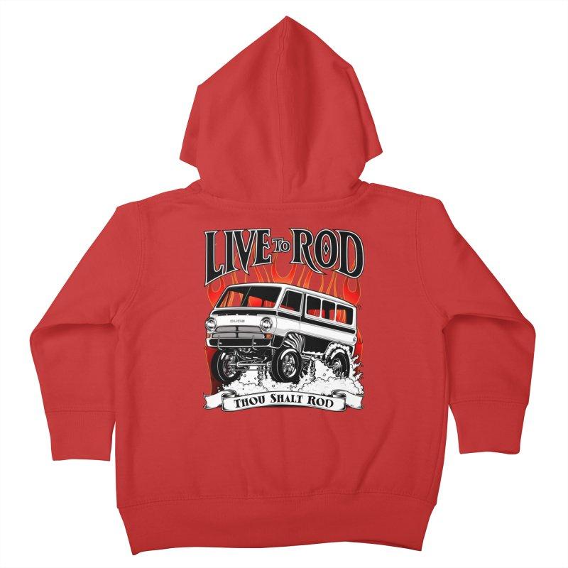 69 Dodge Gasser van, clean black Kids Toddler Zip-Up Hoody by screamnjimmy's Artist Shop