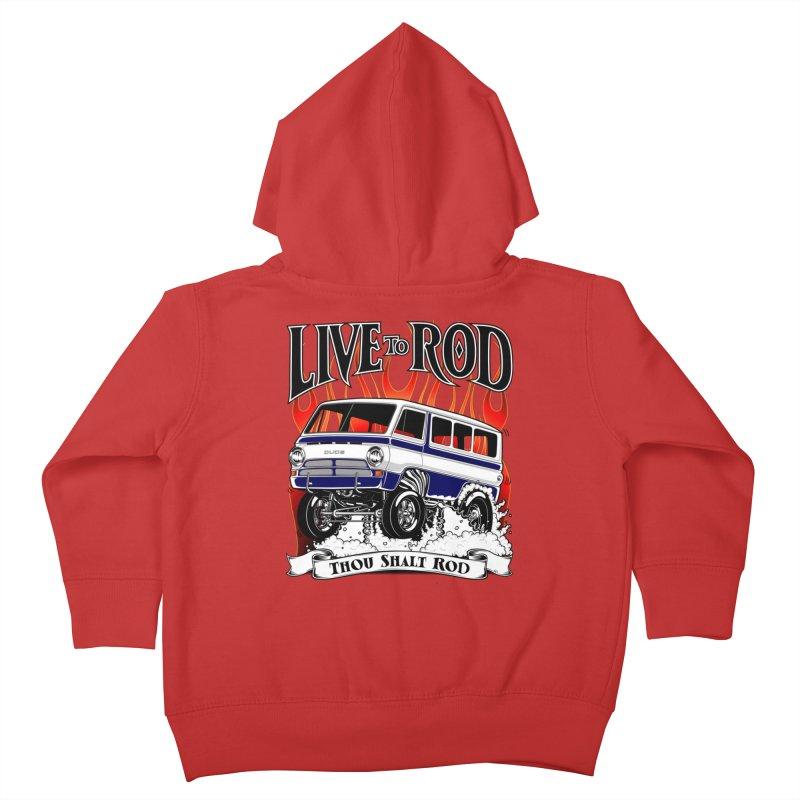 69' Dodge Gasser van, clean black Kids Toddler Zip-Up Hoody by screamnjimmy's Artist Shop