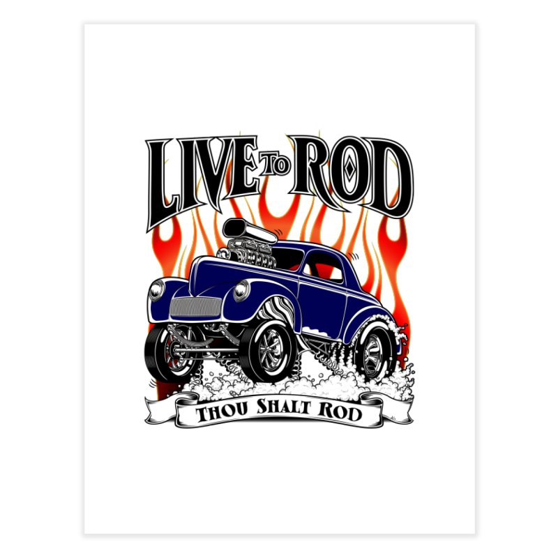 41 Willys Gasser – clean blue   by screamnjimmy's Artist Shop