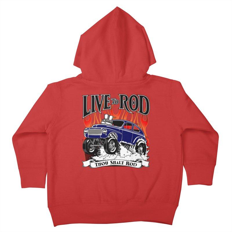62 Volvo Gasser PV544 – clean blue Kids Toddler Zip-Up Hoody by screamnjimmy's Artist Shop