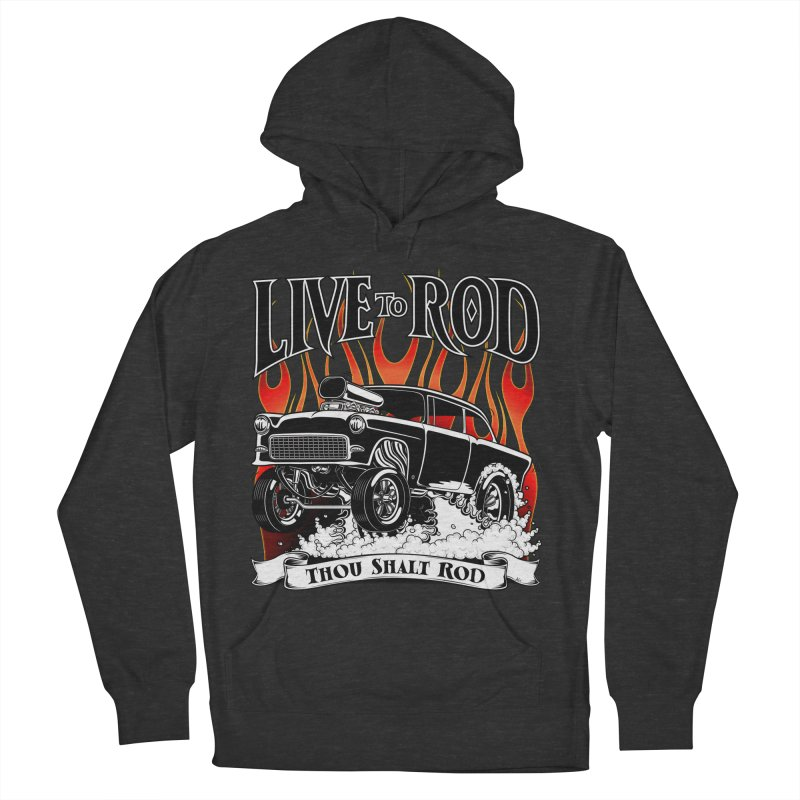 55 Chevy Gasser #2, Clean Black Men's Pullover Hoody by screamnjimmy's Artist Shop