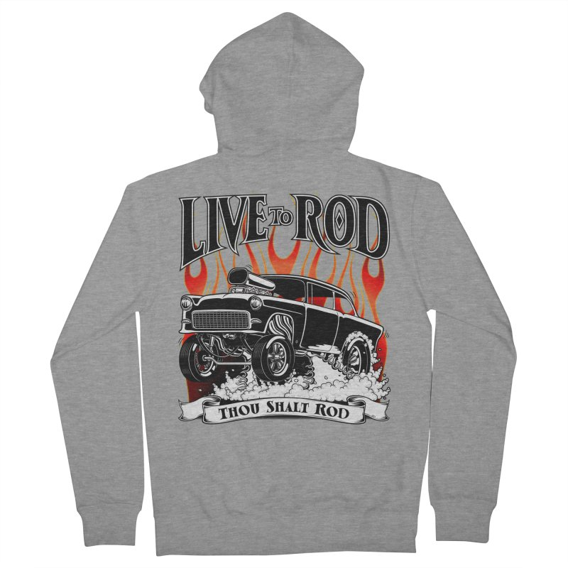 55 Chevy Gasser #2, Clean Black Women's Zip-Up Hoody by screamnjimmy's Artist Shop
