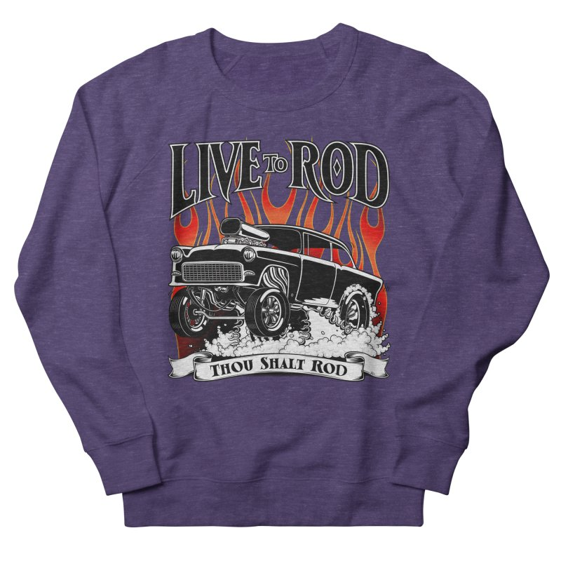 55 Chevy Gasser #2, Clean Black Men's Sweatshirt by screamnjimmy's Artist Shop