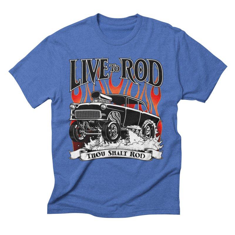 55 Chevy Gasser #2, Clean Black Men's T-Shirt by screamnjimmy's Artist Shop