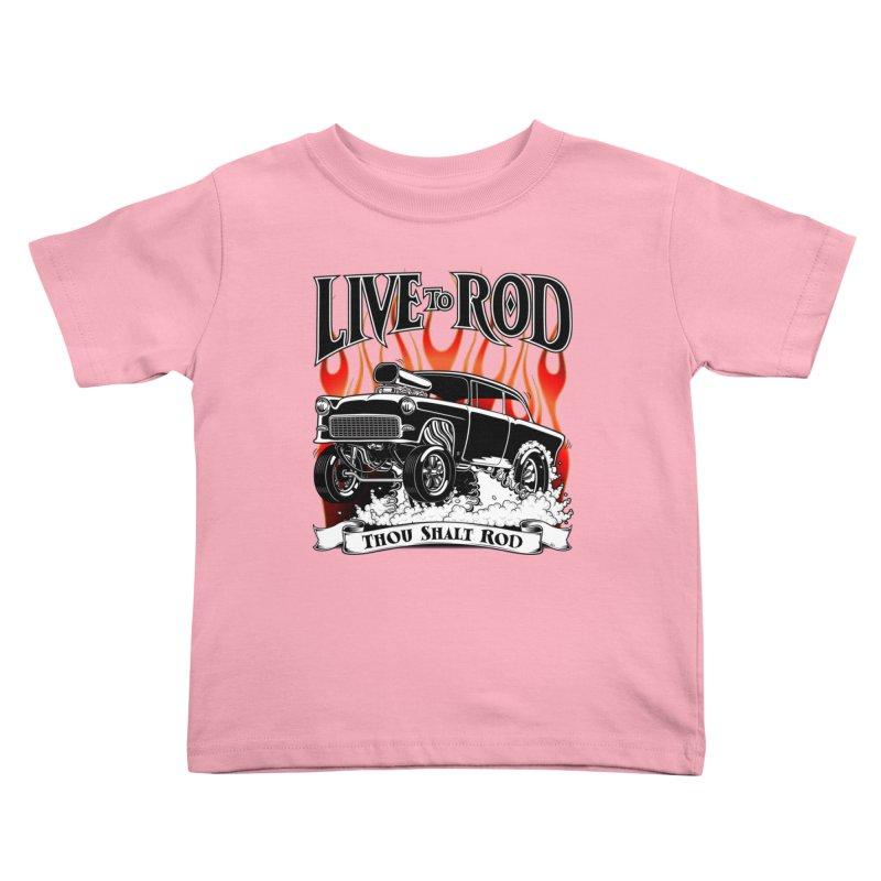 55 Chevy Gasser #2, Clean Black Kids Toddler T-Shirt by screamnjimmy's Artist Shop