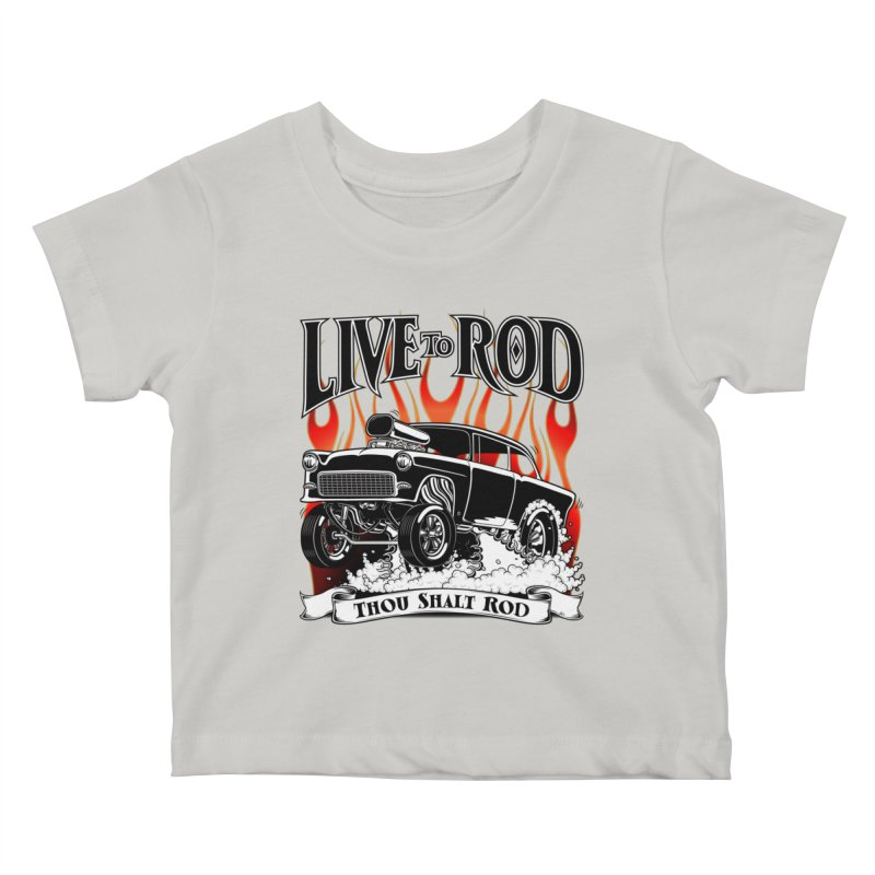 55 Chevy Gasser #2, Clean Black Kids Baby T-Shirt by screamnjimmy's Artist Shop