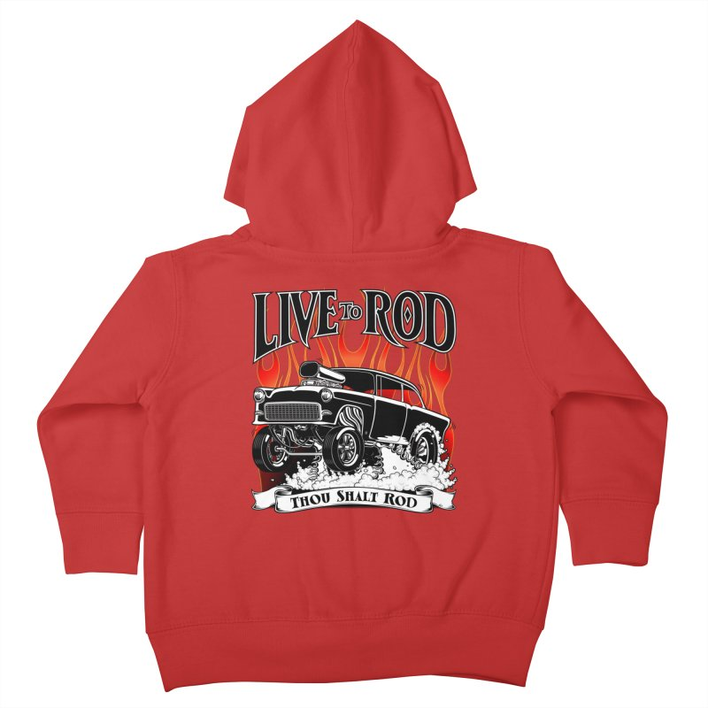 55 Chevy Gasser #2, Clean Black Kids Toddler Zip-Up Hoody by screamnjimmy's Artist Shop