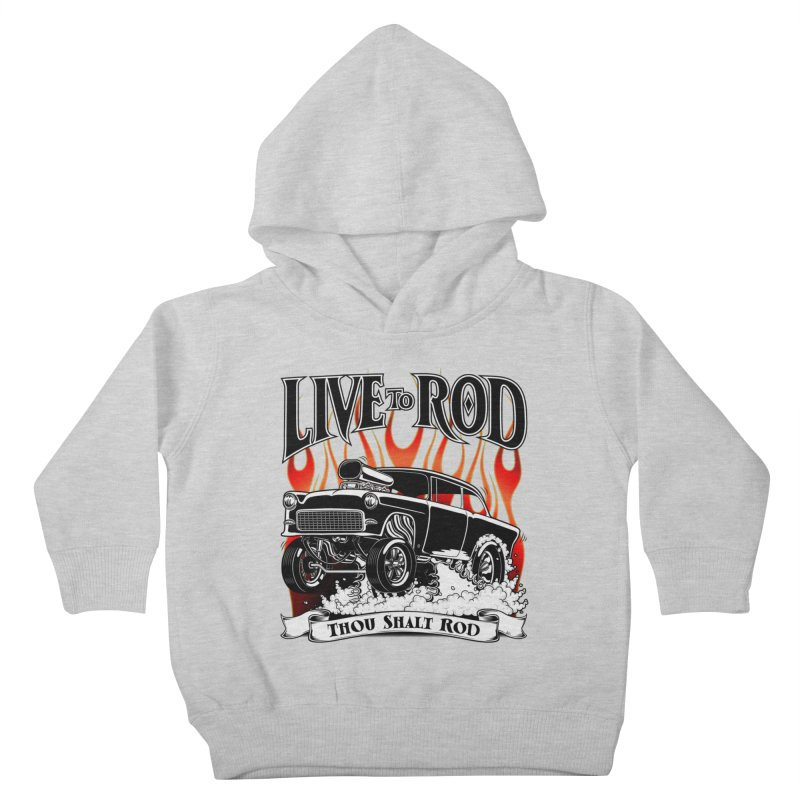 55 Chevy Gasser #2, Clean Black Kids Toddler Pullover Hoody by screamnjimmy's Artist Shop