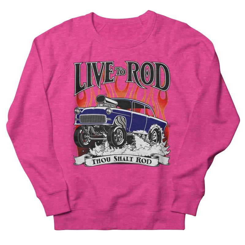 55 Chevy Gasser #2, Clean Blue Women's Sweatshirt by screamnjimmy's Artist Shop