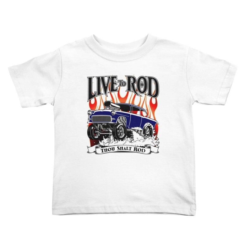 55 Chevy Gasser #2, Clean Blue Kids Toddler T-Shirt by screamnjimmy's Artist Shop