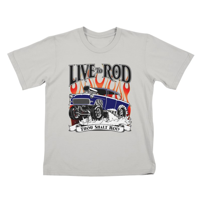 55 Chevy Gasser #2, Clean Blue Kids T-shirt by screamnjimmy's Artist Shop