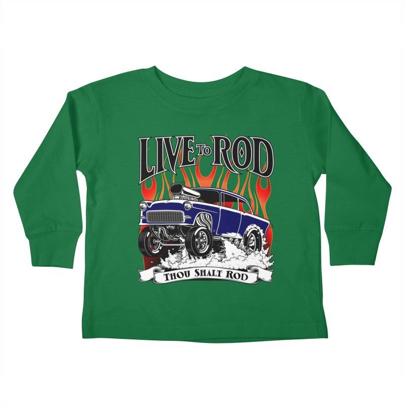 55 Chevy Gasser #2, Clean Blue Kids Toddler Longsleeve T-Shirt by screamnjimmy's Artist Shop