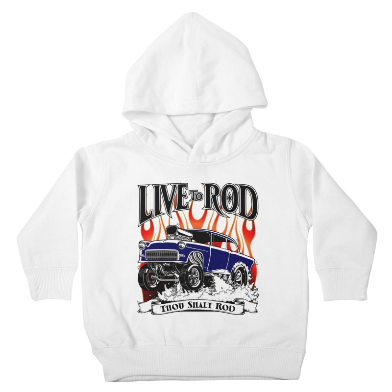 55 Chevy Gasser #2, Clean Blue Kids Toddler Pullover Hoody by screamnjimmy's Artist Shop