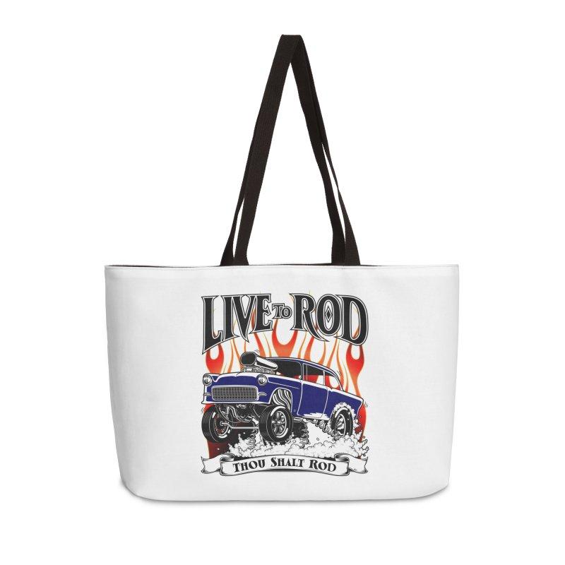 55 Chevy Gasser #2, Clean Blue Accessories Bag by screamnjimmy's Artist Shop