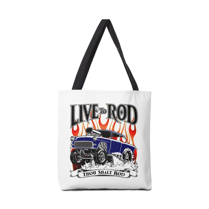 55 Chevy Gasser #2, Clean Blue Accessories Tote Bag Bag by screamnjimmy's Artist Shop
