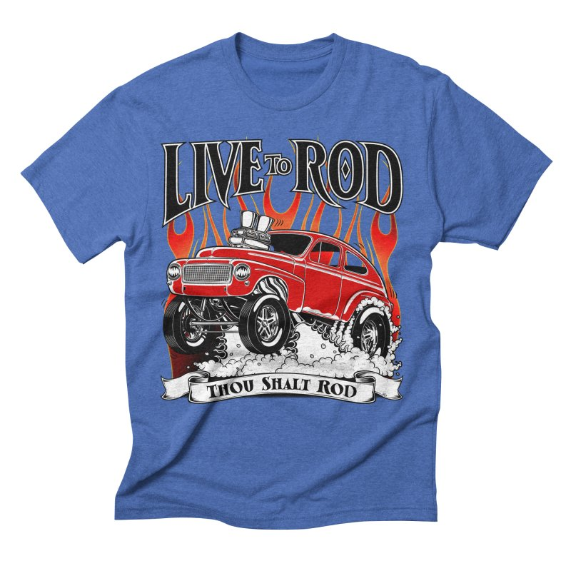 62 Volvo Gasser PV544 – clean red Men's T-Shirt by screamnjimmy's Artist Shop