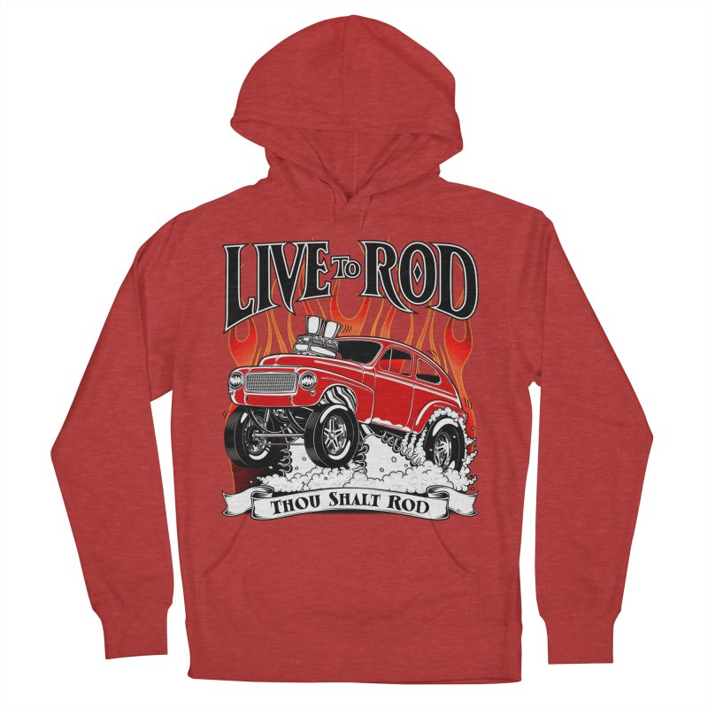 62 Volvo Gasser PV544 – clean red Men's French Terry Pullover Hoody by screamnjimmy's Artist Shop