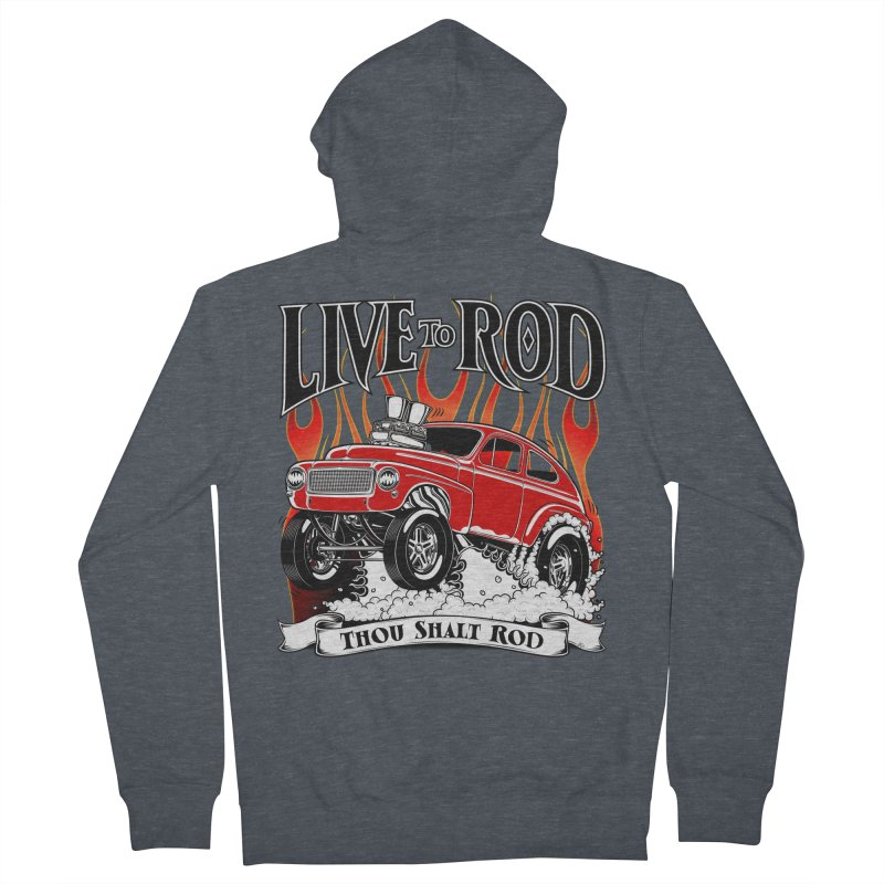 62 Volvo Gasser PV544 – clean red Women's French Terry Zip-Up Hoody by screamnjimmy's Artist Shop