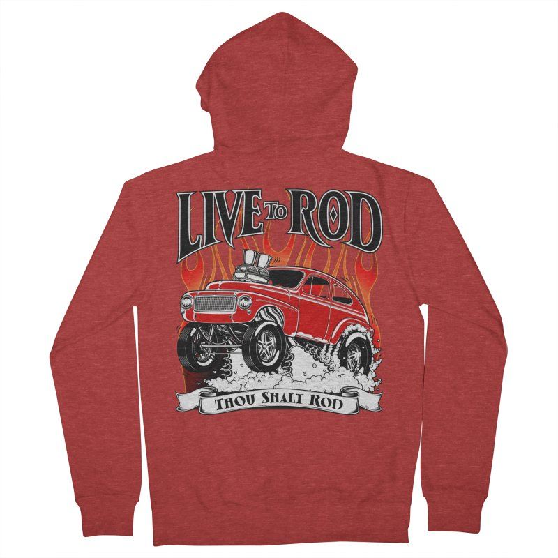 62 Volvo Gasser PV544 – clean red Women's Zip-Up Hoody by screamnjimmy's Artist Shop