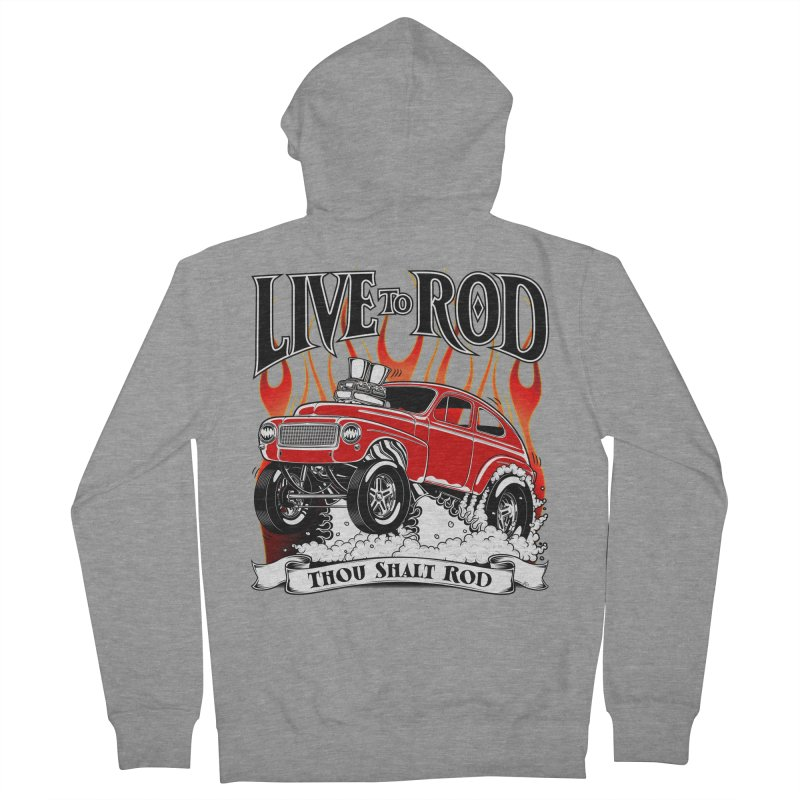 62 Volvo Gasser PV544 – clean red Men's French Terry Zip-Up Hoody by screamnjimmy's Artist Shop