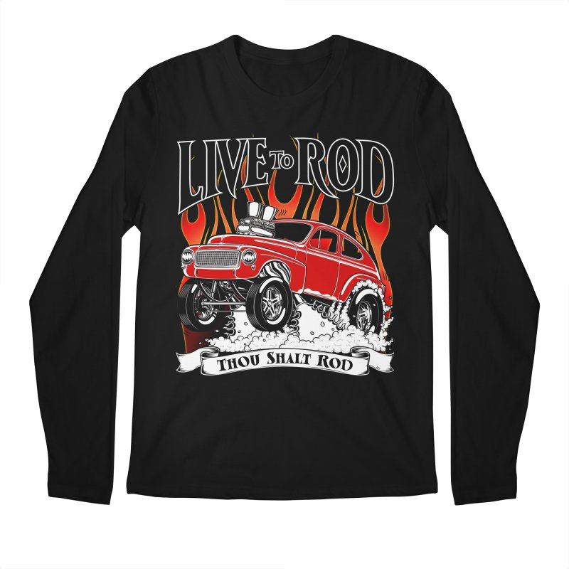 62 Volvo Gasser PV544 – clean red Men's Regular Longsleeve T-Shirt by screamnjimmy's Artist Shop