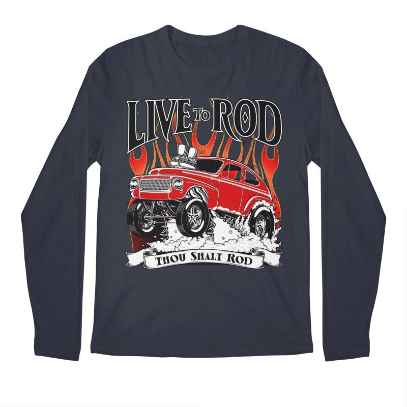 62 Volvo Gasser PV544 – clean red Men's Regular Longsleeve T-Shirt by screamnjimmy's Artist Shop