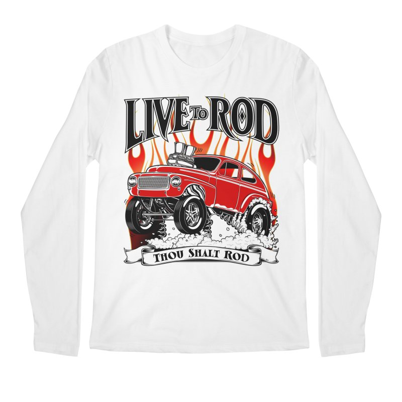 62 Volvo Gasser PV544 – clean red Men's Longsleeve T-Shirt by screamnjimmy's Artist Shop
