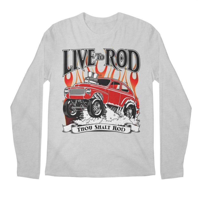 62 Volvo Gasser PV544 – clean red Men's Longsleeve T-Shirt by screamnjimmy's Artist Shop