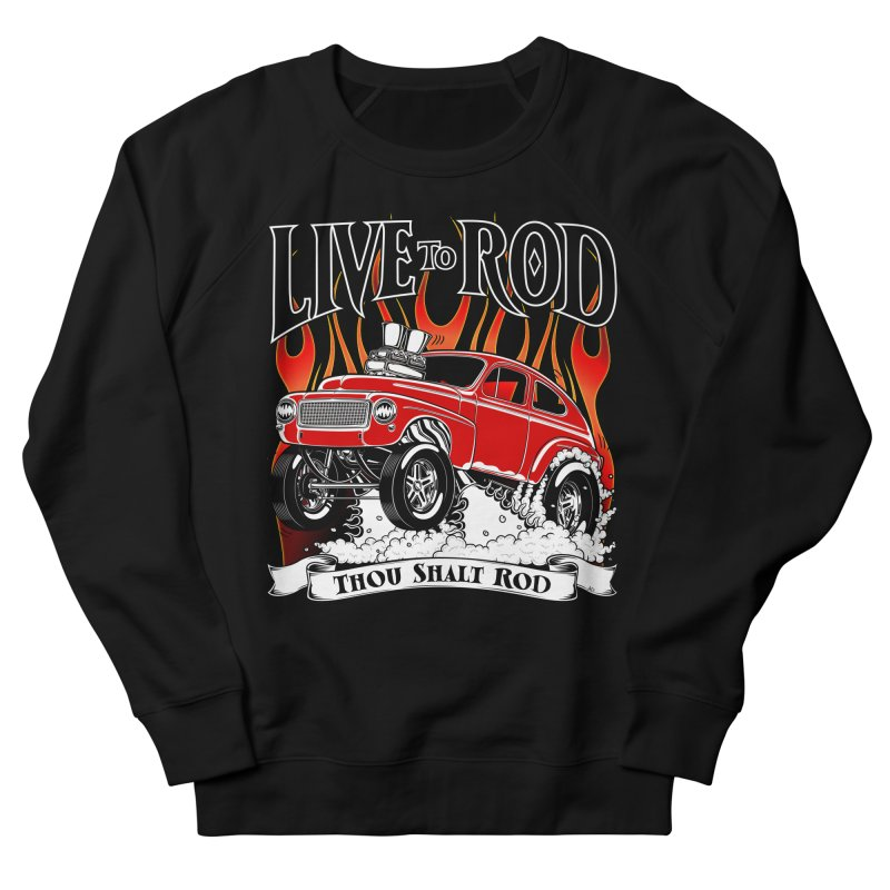 62 Volvo Gasser PV544 – clean red Women's French Terry Sweatshirt by screamnjimmy's Artist Shop