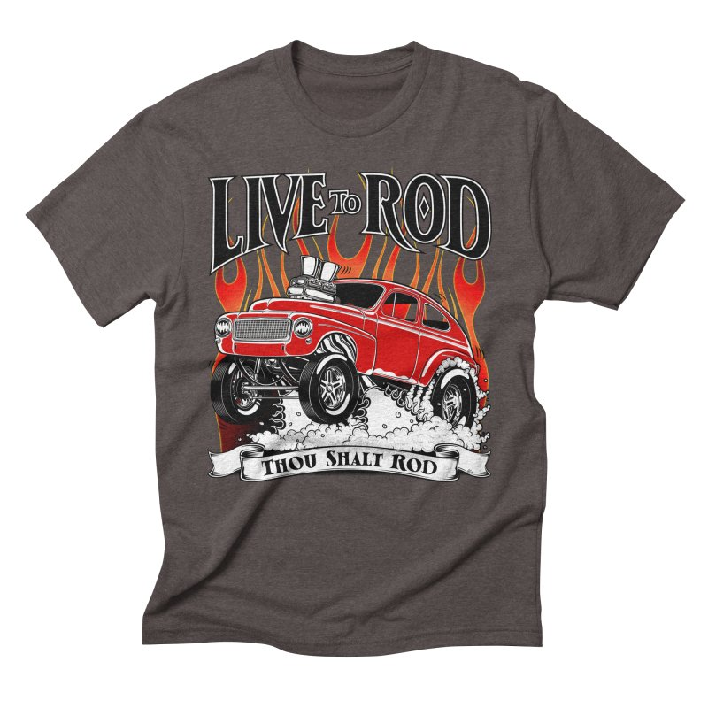 62 Volvo Gasser PV544 – clean red Men's Triblend T-Shirt by screamnjimmy's Artist Shop