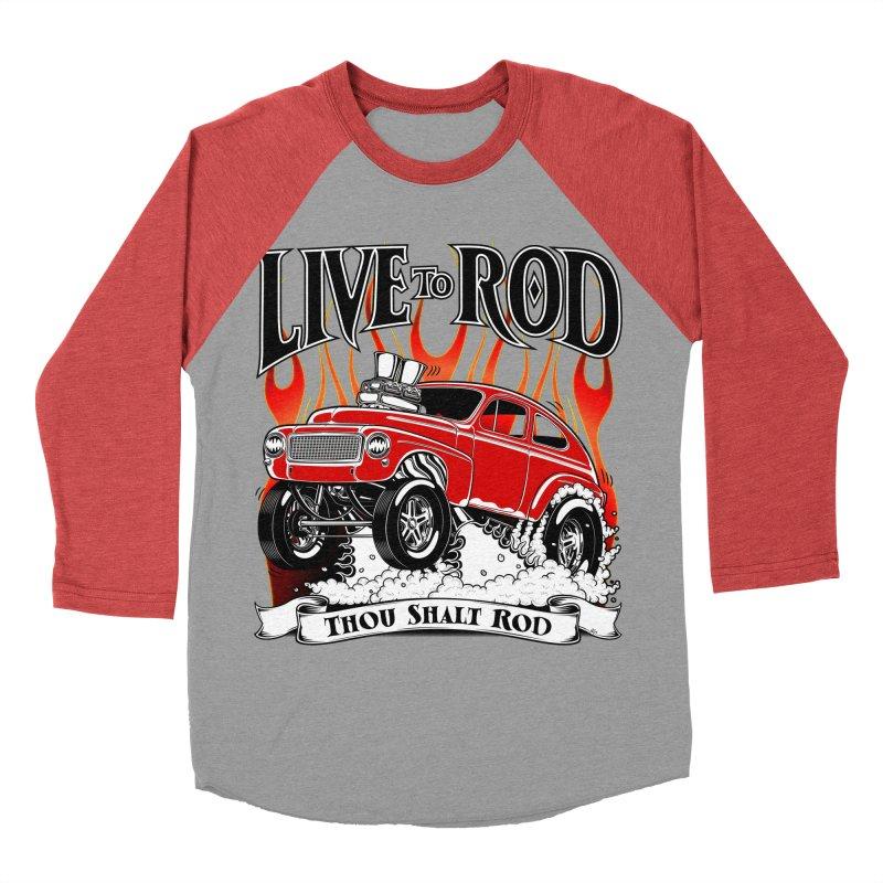 62 Volvo Gasser PV544 – clean red Women's Baseball Triblend T-Shirt by screamnjimmy's Artist Shop