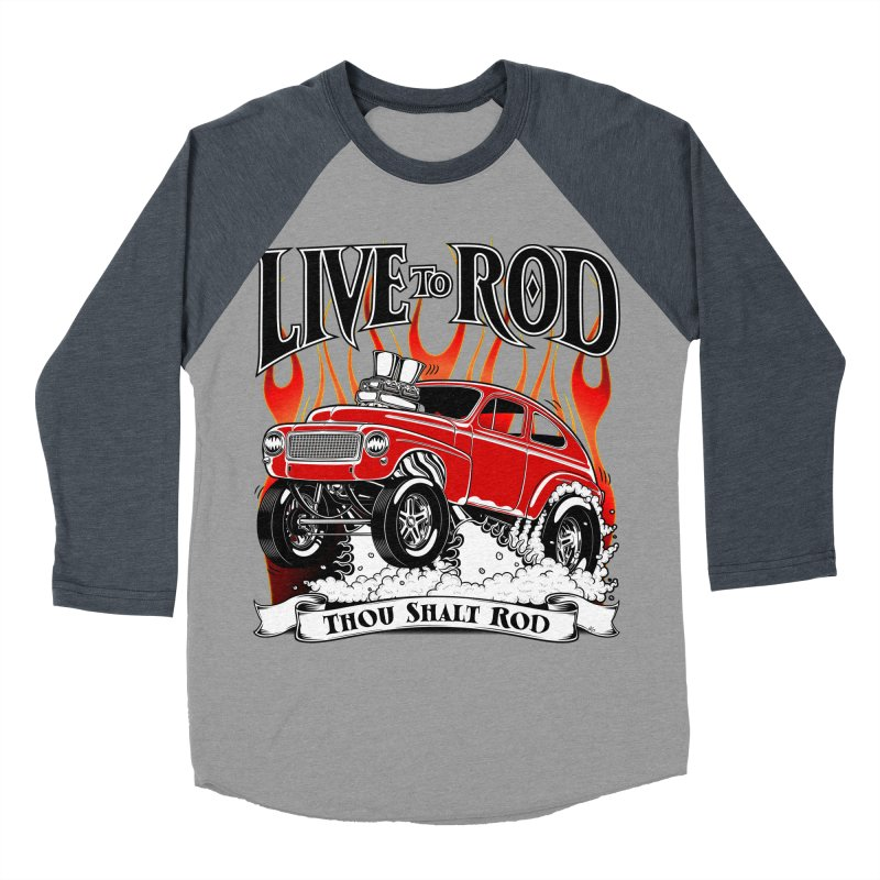 62 Volvo Gasser PV544 – clean red Women's Baseball Triblend T-Shirt by screamnjimmy's Artist Shop