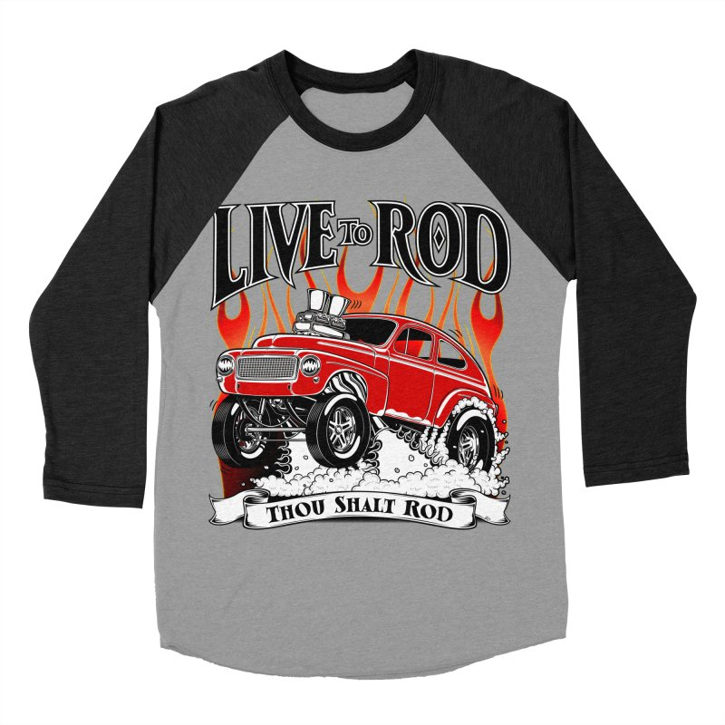 62 Volvo Gasser PV544 – clean red Men's Baseball Triblend T-Shirt by screamnjimmy's Artist Shop
