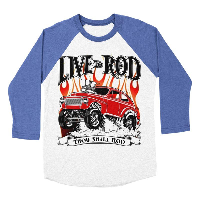 62 Volvo Gasser PV544 – clean red Men's Baseball Triblend T-Shirt by screamnjimmy's Artist Shop