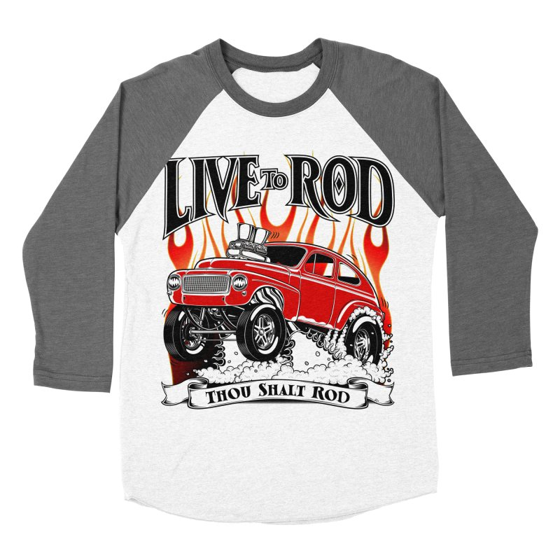 62 Volvo Gasser PV544 – clean red Men's Baseball Triblend Longsleeve T-Shirt by screamnjimmy's Artist Shop