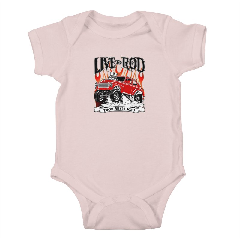 62 Volvo Gasser PV544 – clean red Kids Baby Bodysuit by screamnjimmy's Artist Shop