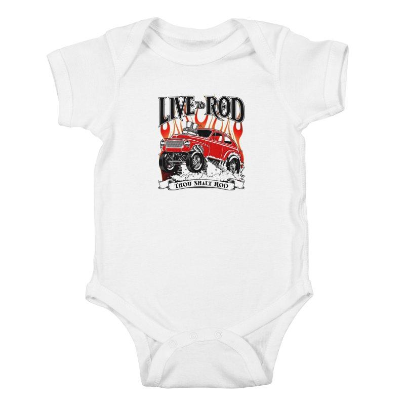 62 Volvo Gasser PV544 – clean red Kids Baby Bodysuit by screamnjimmy's Artist Shop